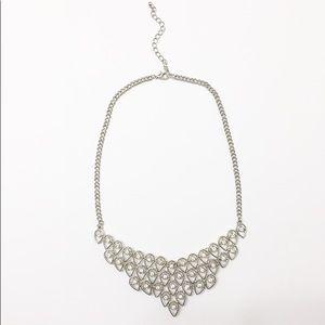 Francesca's Silver Statement Necklace